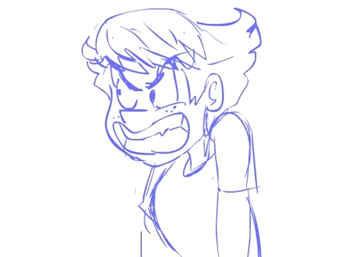 amelia, anger, animation, frustration, she's going to kill someone help, sketch, FRUSTRATION!! Animation practice with Amelia, one of my char GIFs