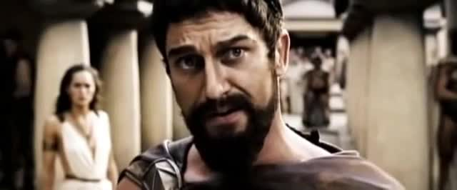 300, 300 movie, gerard butler, mad, this is sparta, 300 This Is Sparta Gerard Butler GIFs