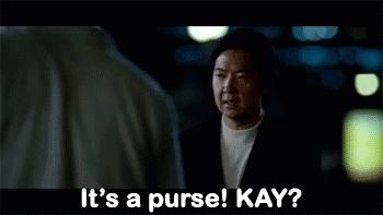 handbag, ken jeong, purse,  GIFs