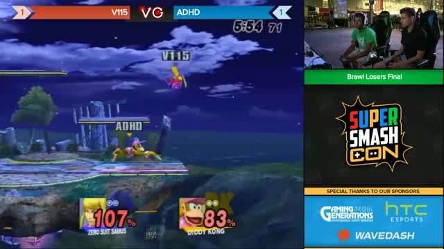 Watch SSC 2016 SSBB - V115 (Zero Suit Samus) Vs. ADHD (Diddy) - Brawl Losers Finals GIF by @nppraxis on Gfycat. Discover more brawl, smashgifs, ssbb GIFs on Gfycat