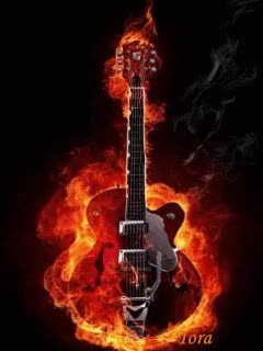 Watch and share Animated Fire Guitar Pda Wallpapers GIFs on Gfycat