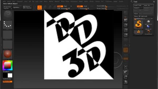 Tutorial - Criando um Quadrado 'Cube' no ZBrush 4R2 - Espaço DD3D