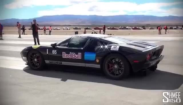 Watch and share 2000hp Twin Turbo Ford GT - Burnouts And Drag Races GIFs on Gfycat