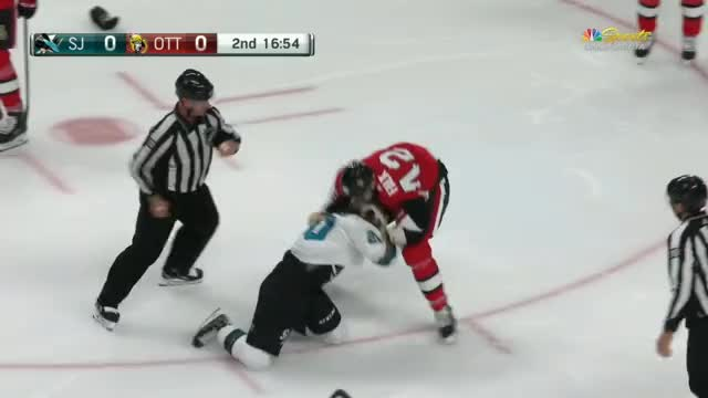 Falk hits Thornton, Sorensen doesn't like it and challenges