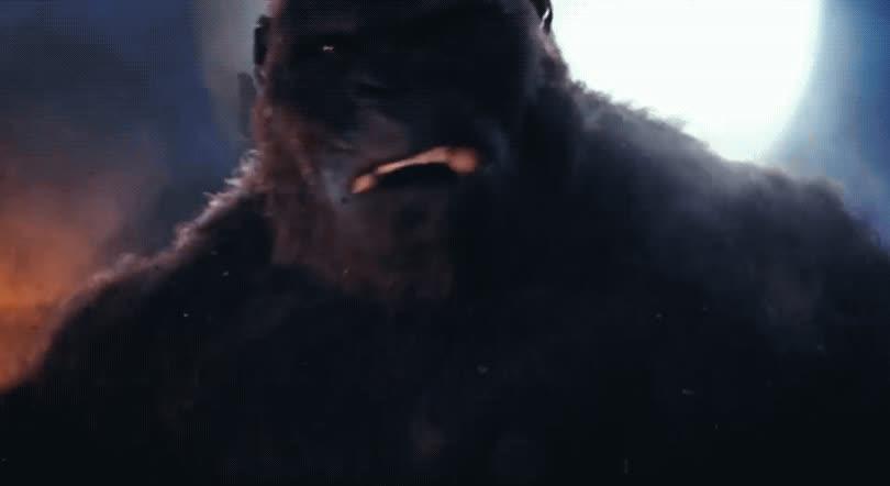anger, angry, king kong, kong skull island, rage, roar, scream, Kong Skull Island GIFs