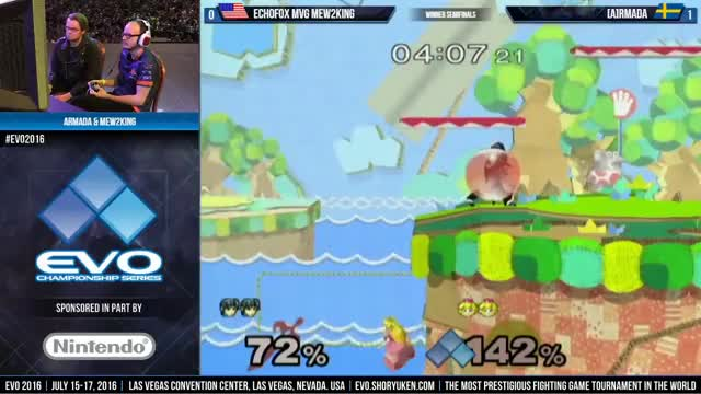 WS: Mew2king (Marth) vs. Armada (Peach)