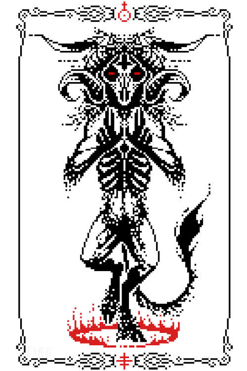animation pixel art Demon devil pixelart GIFs