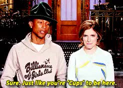 Watch and share Pharrell Williams GIFs and Anna Kendrick GIFs on Gfycat