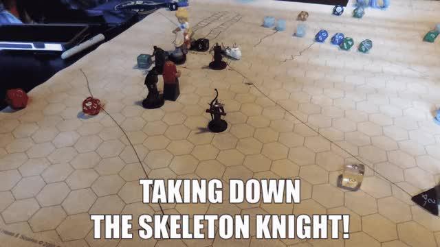 Watch D&D 5e @ Gfycat   Taking down the skeleton knight! GIF by kaseywang (@kaseywang) on Gfycat. Discover more d&d 5e, d20, dnd, timelapse GIFs on Gfycat
