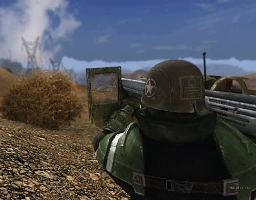 Watch this trending GIF on Gfycat. Discover more :(((, Fallout, Fallout nv, big guns, esther, fnv, gifs, guns, once again when imgur starts working again ill post the hi res, weapons GIFs on Gfycat