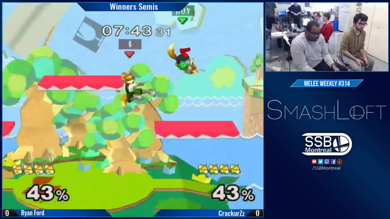 Fox, Fox McCloud, Melee, Nintendo, SSBM, Smash, Smash Bros, Smashloft, Super Smash Bros, Weekly, smashgifs, ssmb, SL Melee #314 - Ryan Ford (Fox, Dr. Mario) vs CrackurZz (Fox) - Winners Semis GIFs