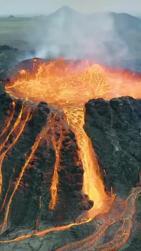 Iceland volcano gif
