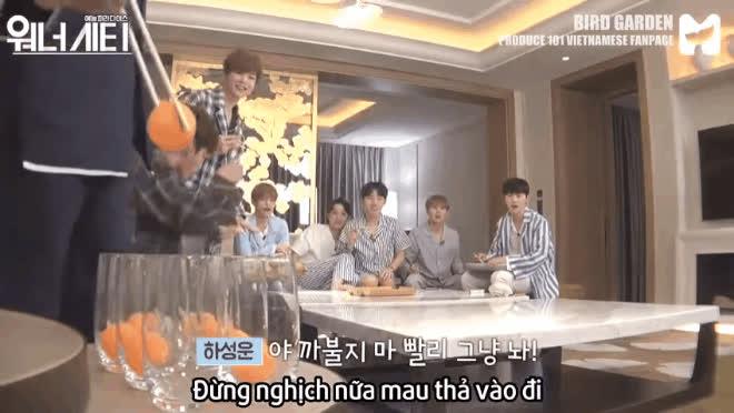 Dàn mỹ nam Wanna One xấu tính, lầy lội bỏ quên hình tượng chỉ vì đồ ăn