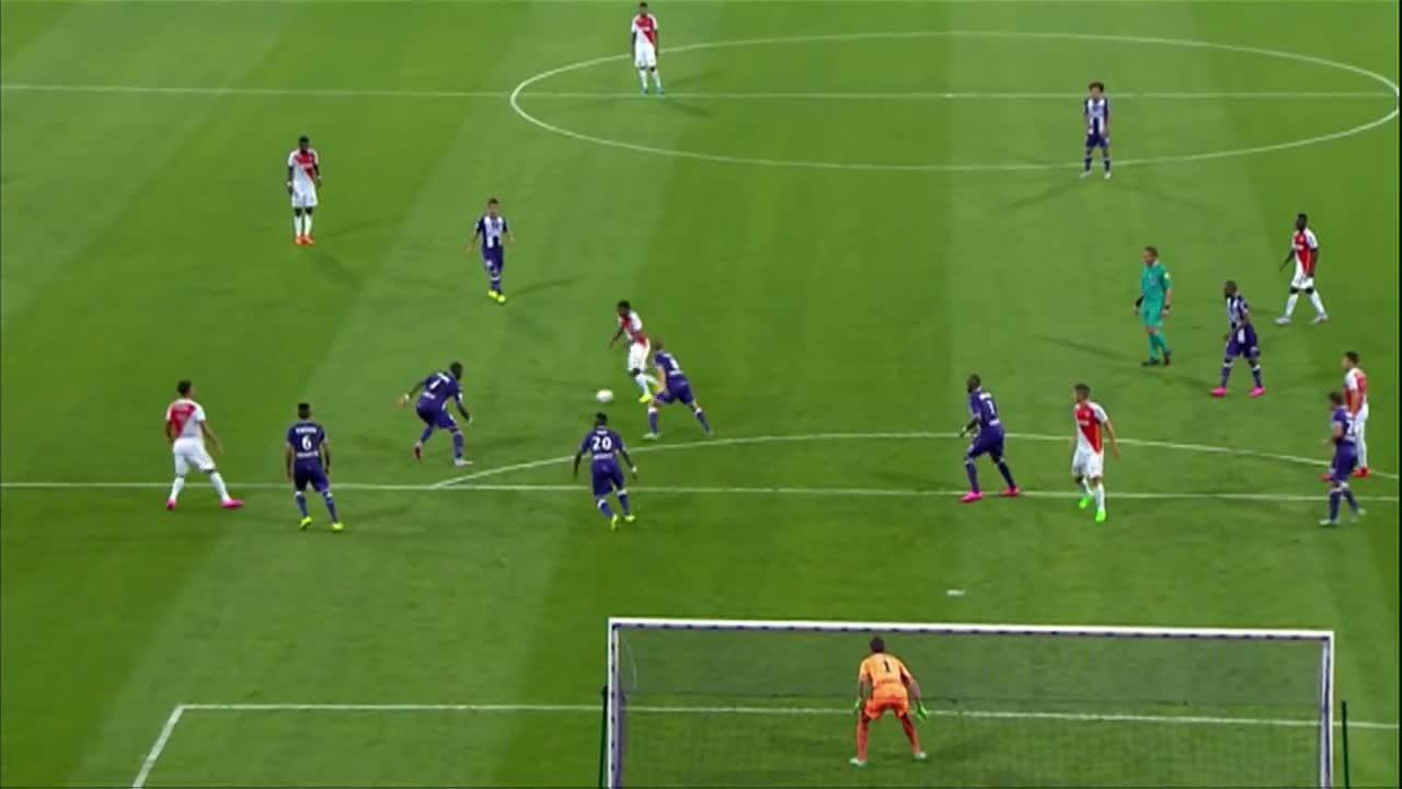 but thomas lemar, toulouse fc as monaco, toulouse monaco, But Thomas LEMAR (65') / Toulouse FC - AS Monaco (1-1) -  (TFC - ASM) / 2015-16 GIFs