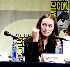 Watch and share Alycia Debnam Carey GIFs and Sdcc2015 GIFs on Gfycat