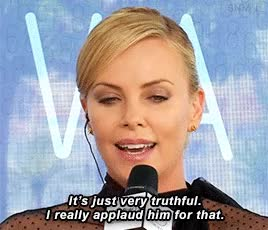Watch and share Charlize Theron GIFs on Gfycat