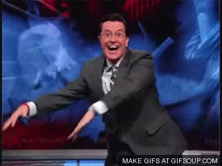 Watch stephen colbert celebration GIF on Gfycat. Discover more askreddit GIFs on Gfycat