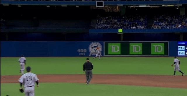 baseball, torontobluejays, Jacoby Ellsbury drops the ball... 3 times. (reddit) GIFs