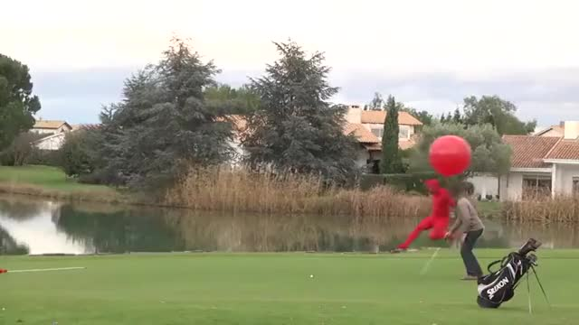 Watch Devil putting golf balls in a cup to fly away in a balloon [satan lucifer demon asshole costume laughing giggling joke kid jk stupid prank do evil sinister plan mind scheme] (reddit) GIF on Gfycat. Discover more gfycatdepot GIFs on Gfycat