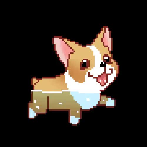 Watch this trending GIF on Gfycat. Discover more adorable, animated, brown, corgi, cute, cute puppy, dog, gif, kawaii, pixel, pixel gif, pixelated, puppies, puppy, puppy gif, sweet, swimming, transparent, water, white GIFs on Gfycat