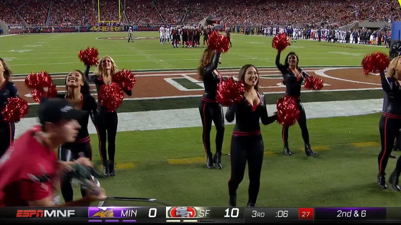 black, football, nfl, San Francisco 49ers cheerleaders GIFs