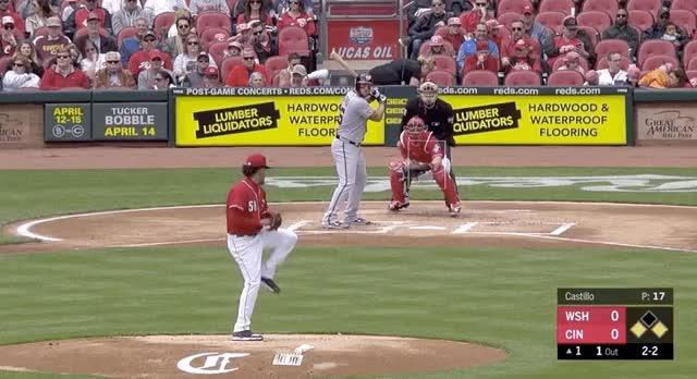 Watch and share Cincinnati Reds GIFs and Baseball GIFs by devanfink on Gfycat