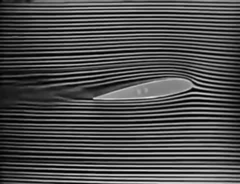"Watch and share Aerodynamics: Airfoil Camber, Flaps, Slots-Slats & Drag: ""Smoke Lifts"" Circa 1938 NACA Langley GIFs on Gfycat"