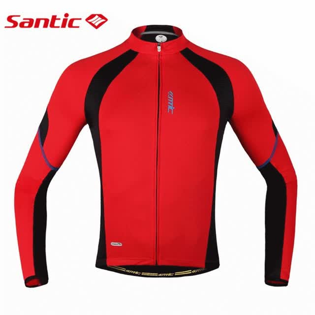 Watch and share Santic Cycling Font Jersey Font Red Long Sleeve Jacket Font Men Font GIFs on Gfycat
