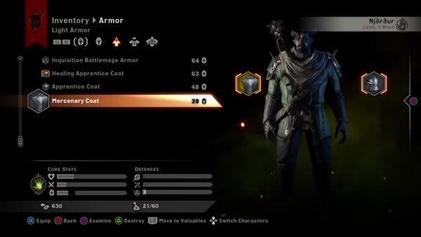 dragonage, Qunari PC apprentice vs merc coats (reddit) GIFs