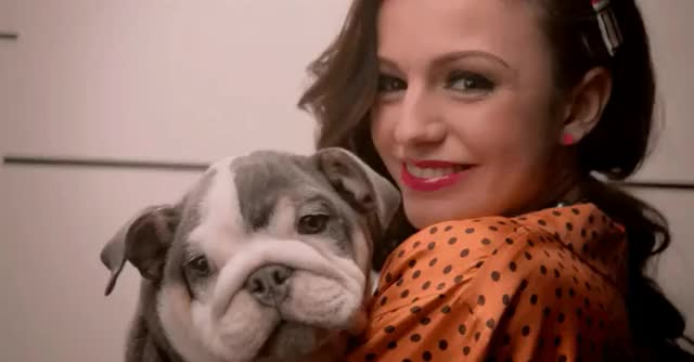 Watch and share Cher Lloyd With A Puppy GIFs on Gfycat