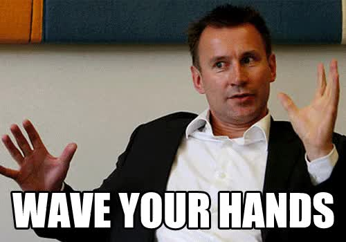 Watch and share Jeremy Hunt Wave Your Hands In The Air GIFs on Gfycat