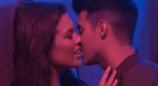 ashley graham, make out, making out, Ashley Graham Shares Passionate Lip-lock With Joe Jonas in New DNCE Video GIFs