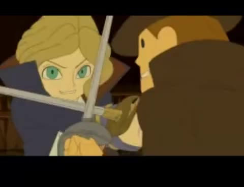 Watch Professor Layton Swordfight GIF on Gfycat. Discover more anime, professor layton, studio ghibli, swordfight, swords GIFs on Gfycat