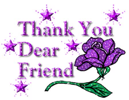 Watch and share Thank You Dear Friend Photo: Purple Stars Thank YOu Dear Friend ThankUDearFriend_001.gif GIFs on Gfycat
