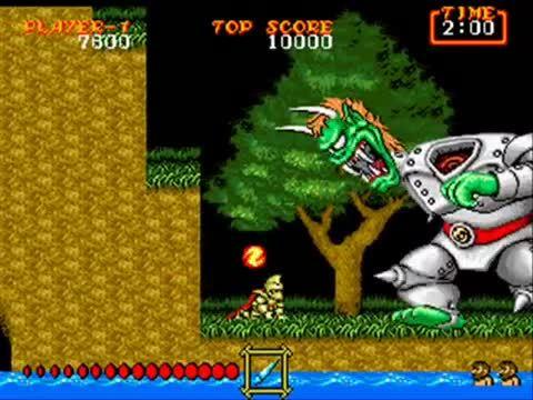 gaminggifs, Ghouls 'n Ghosts: Levels 1 - 3 (Sega Genesis) (reddit) GIFs