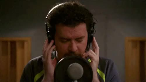 Watch and share Danny Mcbride GIFs and Headphones GIFs on Gfycat