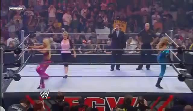 Watch and share Cherry, Kelly Kelly & Michelle McCool Vs. Layla, Victoria & Natalya (ECW May 13, 2008) GIFs on Gfycat