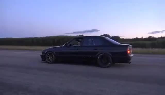 Watch Bugatti Veyron 16.4 1001 HP vs BMW M5 E34 Turbo by AG [Uncut 4k ONE TAKE] GIF on Gfycat. Discover more related GIFs on Gfycat