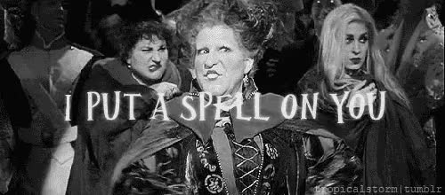 """Watch """"Hello, Salem! My name's Winifred, what's yours?""""-Winifred S GIF on Gfycat. Discover more Hocus Pocus, The Sanderson Sisters, bette midler, i put a spell on you, winifred sanderson GIFs on Gfycat"""
