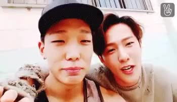 Watch ikon GIF on Gfycat. Discover more bobby, bobdong, bobdong is basically the hot af and cute af pair, but he's so cute, donghyuk, fk donghyuk looks so hot, ikon, jiwon, look at the last gifs they're such dorks, mygifs, v app GIFs on Gfycat