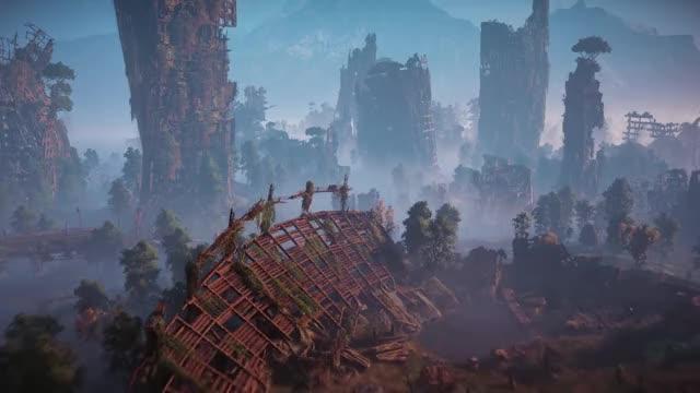Watch Horizon Zero Dawn - Launch Trailer | PS4 GIF by Illeva (@illeva) on Gfycat. Discover more Aloy, Dinosaurs, Guerrilla, Horizon, Killzone, Machines, Playstation exclusive, Post apocalyptic, Robots, Zero Dawn GIFs on Gfycat