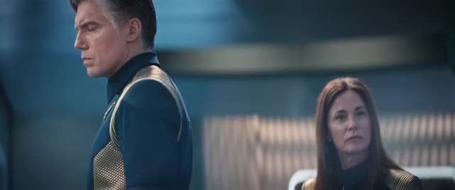 Watch this trending GIF by Star Trek gifs (@star-trek-gifs) on Gfycat. Discover more Anson Mount, Captain Pike, Christopher Pike, DSC, Discovery, Jayne Brook, Katrina Cornwell, Star Trek, Star Trek: Discovery GIFs on Gfycat