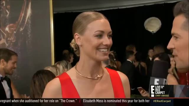 Watch Yvonne Strahovski laugh. GIF by @tsubaki on Gfycat. Discover more EmmyAwards2017, Emmys, Emmys2017 GIFs on Gfycat
