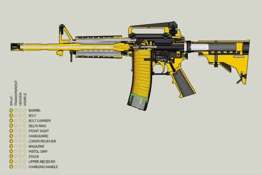 almostperfectloops, mechanical_gifs, How the M-16 works (reddit) GIFs