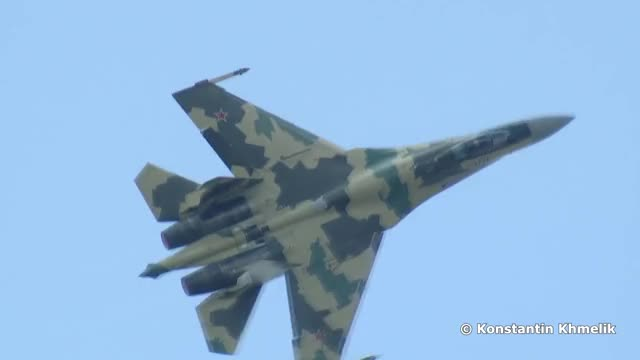 Watch and share Su-35 GIFs by tehroot on Gfycat