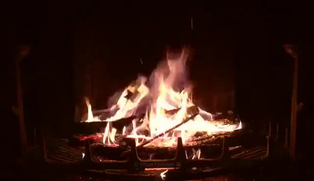Watch and share Crackling Fireplace With Thunder, Rain And Howling Wind Sounds (HD) GIFs on Gfycat