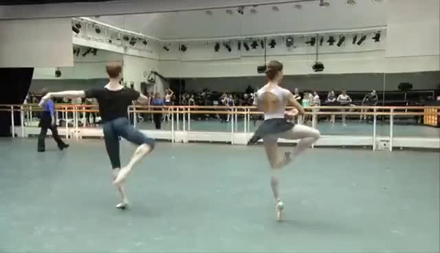 Watch and share The Royal Ballet Class (centre) – World Ballet Day 2015 GIFs on Gfycat