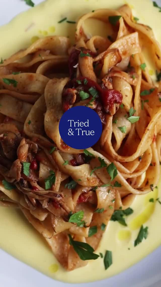 Watch and share Mushroom Ragu With Saffron Ricotta GIFs by triedandtruerecipes on Gfycat