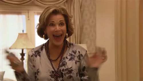 arrested development, celebrate, excited, happy, lucille, omg, yas, yay, yes, Lucille Excited GIFs