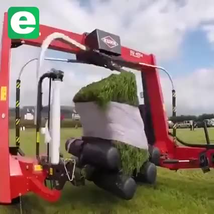 Watch Hay bale wrapping machine GIF on Gfycat. Discover more oddlysatisfying GIFs on Gfycat